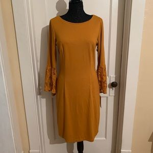 NWT Nanette Lepore Mustard Dress (10)